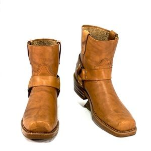 DURANGO- Men's Moto/ Harness Ankle boots-marble